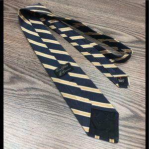 Robert Talbott Accessories - Robert Talbott Blue w/ Gold & White Stripe Tie